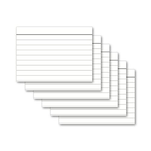 Wei/ß, Menge: 4 Packungen wei/ß 100 St/ück Herlitz 1150507 Karteikarte A5