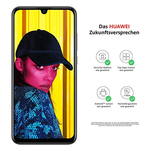 c7d015ff5ccc66 Huawei P smart 2019 BUNDLE Dual-Sim Smartphone, 15,77 cm 6,21 Zoll, 64GB  interner Speicher, 3GB RAM, Android 9.0 midnight black + gratis 16 GB  Speicherkarte ...